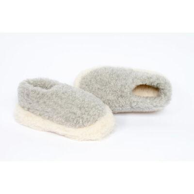 Yoko Wool Siberian Slippers, Light Grey Colour