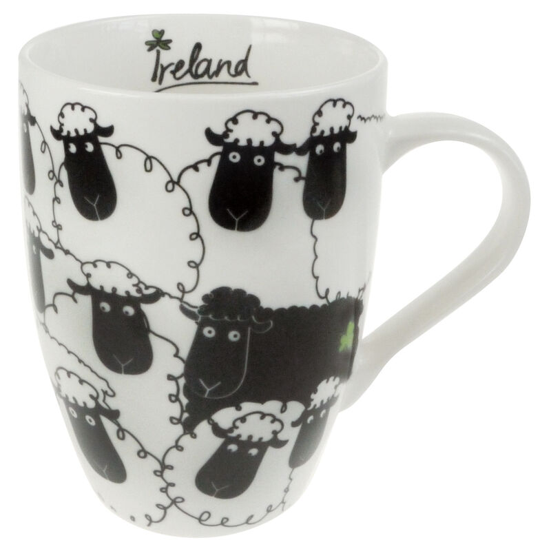 Ceramic Mug With Black Sheep Print