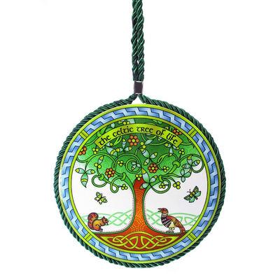 Ceramic Celtic Tree Of Life Plaque Pot Stand  17Cm Diameter