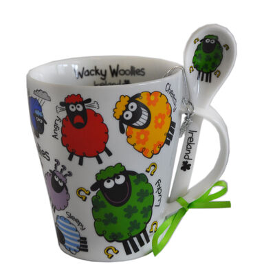 Irish Mug And Spoon Set  Wacky Woollies