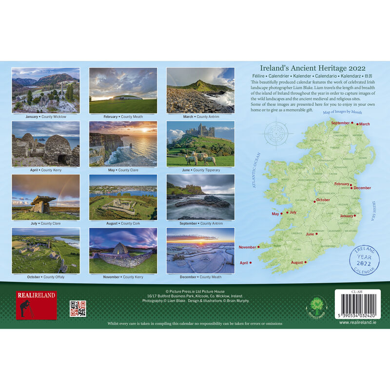 A4 Ancient Ireland Heritage 2022 Calendar