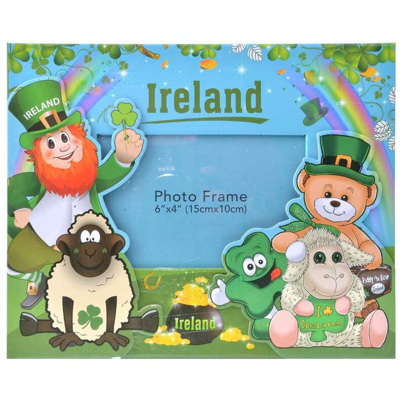 Photo Frame With Various Funny Irish Characters 15 x 10cm