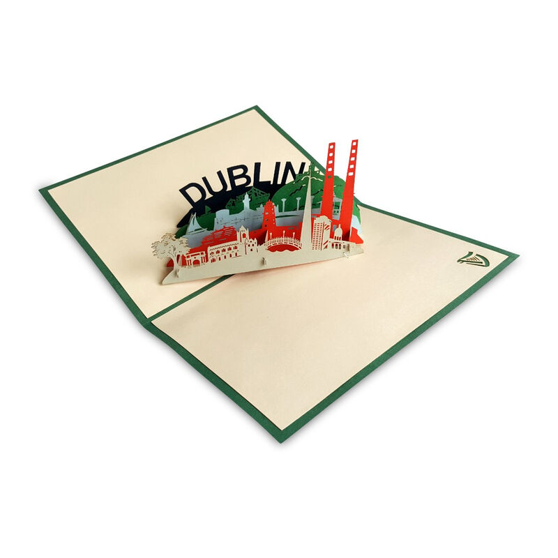 Pop-Up Card with Dublin City Landmarks Design and Dublin Text
