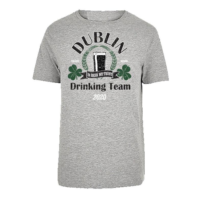 Dublin Drinking Team 2020 T-Shirt  Grey Colour