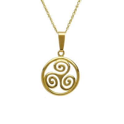 10CT Triple Celtic Spiral Pendant