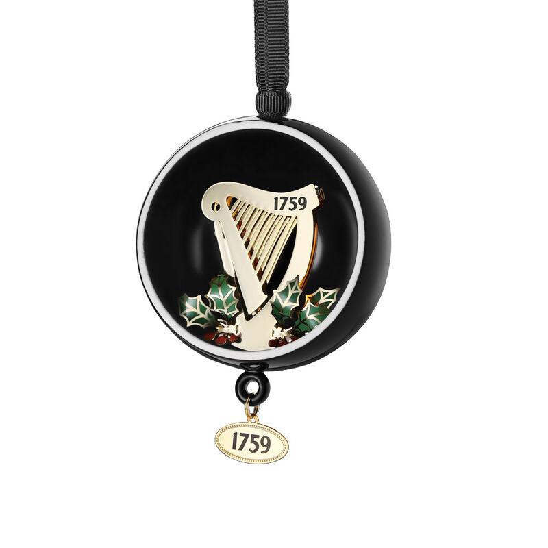 Newbridge Silverware Guinness Open Globe Harp Decoration