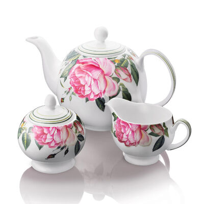 Newbridge Silverware Fine Bone China Rose 3 piece Tea Set