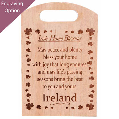 Wooden Chopping Board With Irish Home Blessing Large