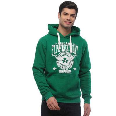 St. Patrick's Day Hoodie With 'La Fheile Padraig World Famous Festival' Text