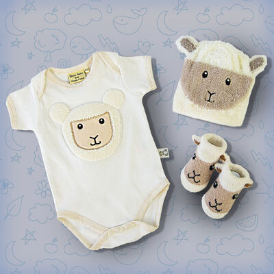 Patrick Francis Baby Sheep Vest, Booties & Hat Bundle Pack