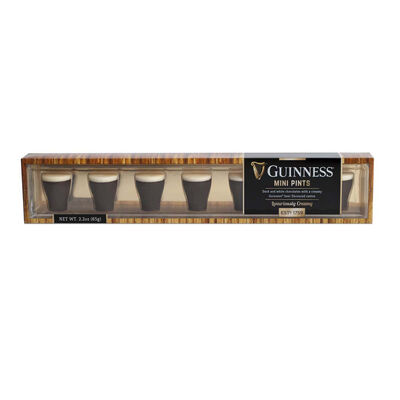 Mini Guinness Pint Chocolates With Dark And White Chocolate  65g