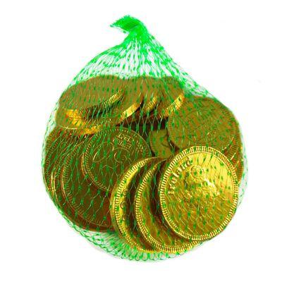 Glücksbringer-Beutel mit irischen Milchschokolade-Münzen 75g mit Euro- und irischen Symbolen