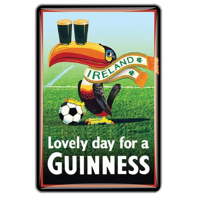 Guinness Official Merchandise Quality Epoxy Magnet With Toucan With Ball Design