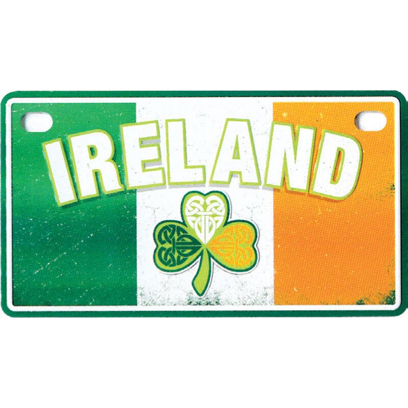 Irish Tri Colour Reg Plate Design With Ireland Text And Celtic Shamrock Design