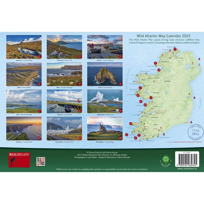 Wild Atlantic Way A4 Wall Calendar 2021 by Liam Blake