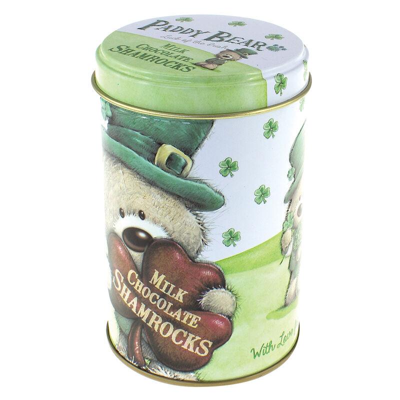 Paddy Bear-Milchschokoladendose im irischen Design