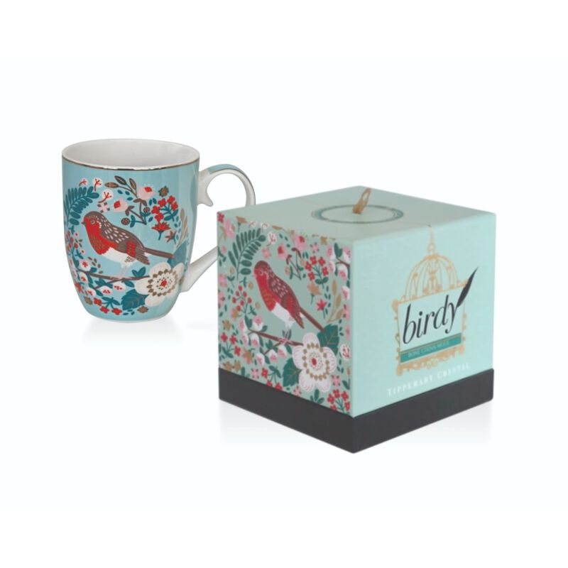 Tipperary Crystal Red Robin Birdy Collection Illustrated Mug