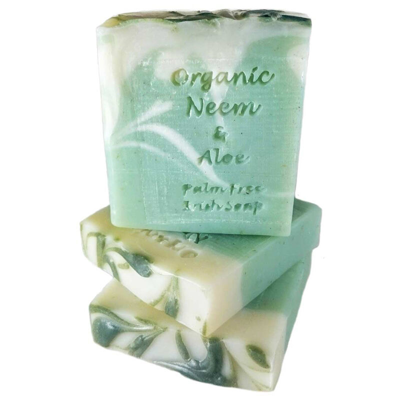 Palm Free Organic Neem Oil and Aloe Vera Soap Bar – Handcrafted in Ireland