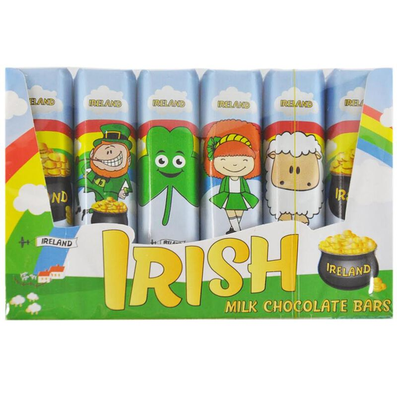 6 Pack of Individually Wrapped Irish Milk Chocolate Bars 14g Each