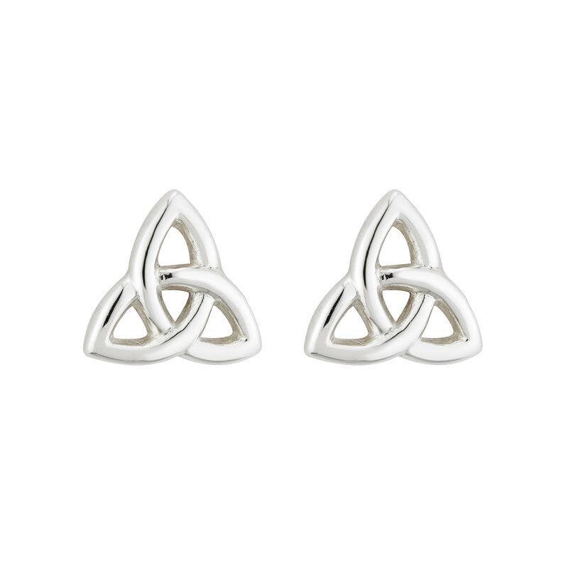 Hallmarked Sterling Silver Mini Trinity Knot Stud Earrings