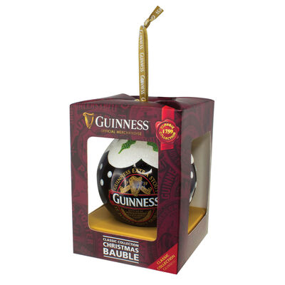 Guinness-Christbaumkugel mit Aufdruck der Guinness Classic-Kollektion