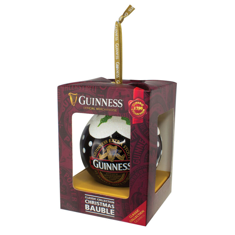 Guinness Christmas Bauble With Guinness Classic Collection Label Design