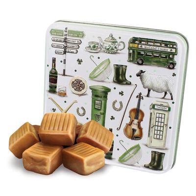 Impressions Of Ireland Fudge In A Tin Box With Irish Icons Design  100G