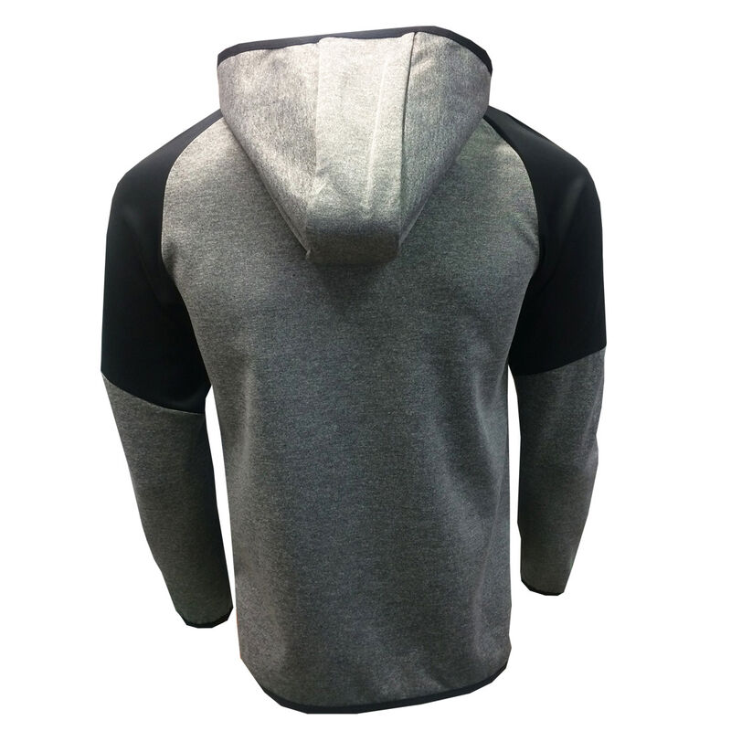 Guinness Full Zip Performance Hoodie Grey Colour With Black Sleeves