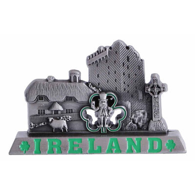 Ireland Designed Metal Ornament With Famous Icons and Landmarks
