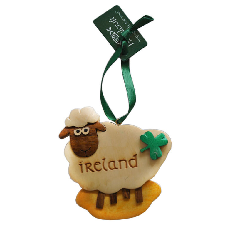 Irish Wooden Sheep Hanging Decoration