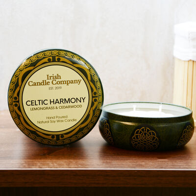 Celtic Harmony Large Lemongrass And Cedarwood Natural Soy Wax Candle