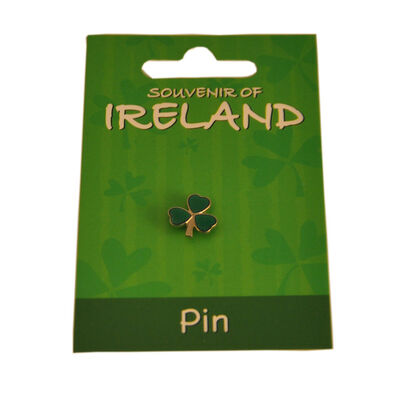 Metal Shamrock Lapel Pin  1.5Cm X 1.5Cm Length And Height