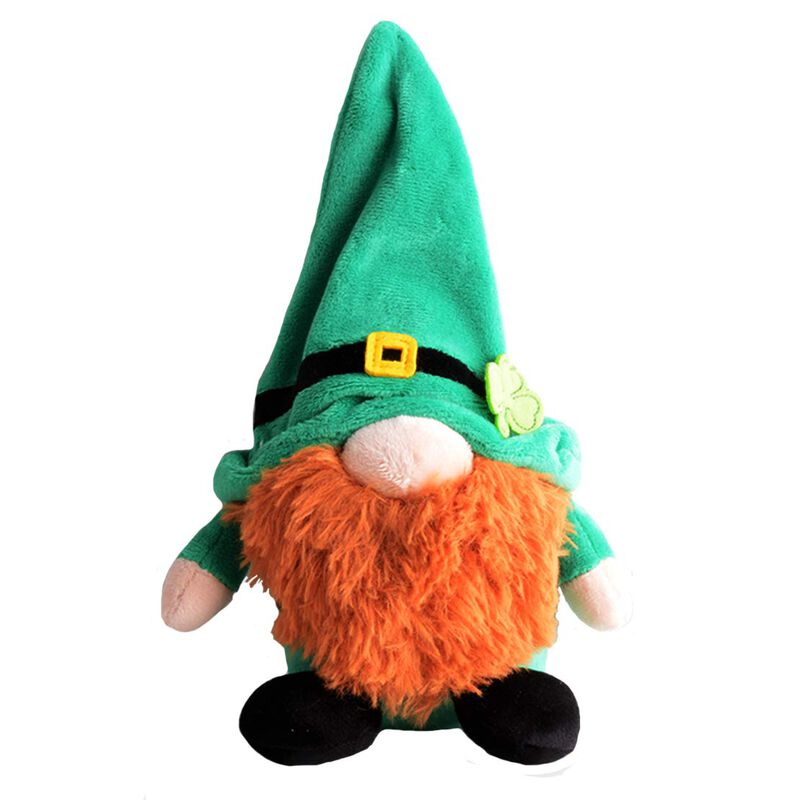 Gnomlins 10 Inch Irish Gnomlin Soft Plush Toy  Green with a Red Beard