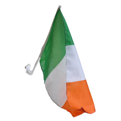 Tri Colour Ireland Flag For Car Window