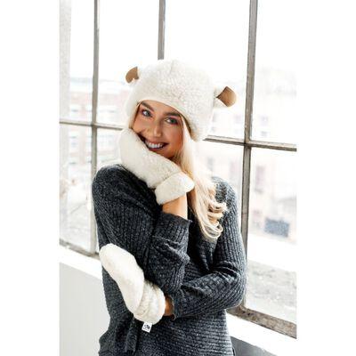 Sheep By The Sea 100% Natural Wool Sheep Hat With Fun Sheep Ears