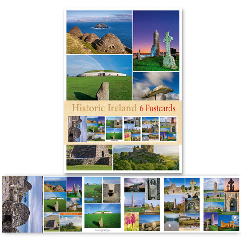 Pack Of Six Postcards Depicting Scenes From Historic Ireland