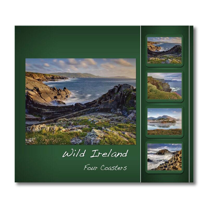 Wild Ireland Designed Coasters - Set of Four