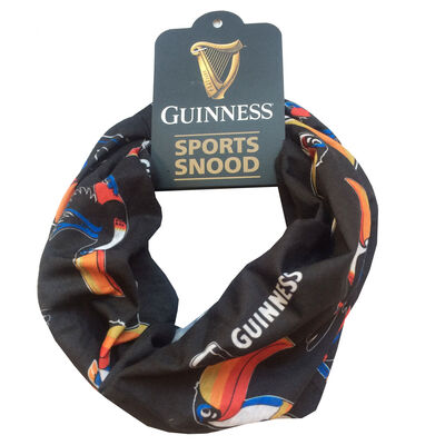 Guinness Sports Snood With Toucan And Pint Print  Black Colour