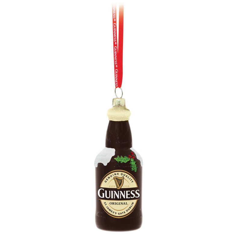 Guinness-Christbaumkugel Flaschenform