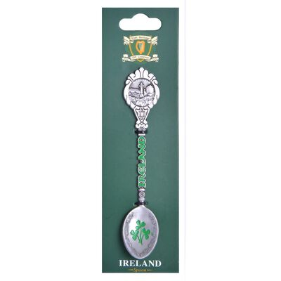 Ireland College Collectible Spoon With Ireland Sign And Shamrock Design