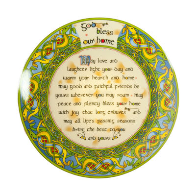 Ceramic God Bless Our Home Display Plate 20Cm