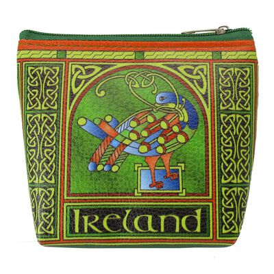Celtic Peacock Ireland Clip Purse With A Coloured Trinity Irish Design