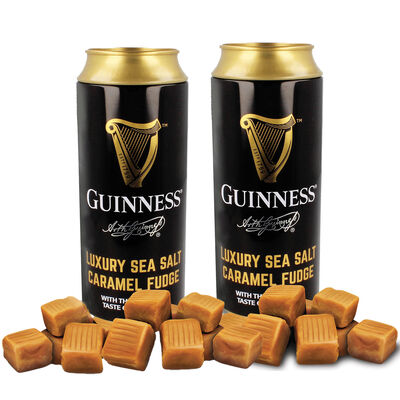 CLEARANCE - Guinness Luxury Sea Salt Caramel Fudge In Money Tin, 100G (Two Pack)