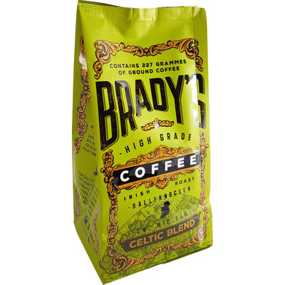 Bradys High Grade Irish Roast Ground Coffee  Celtic Blend 227G
