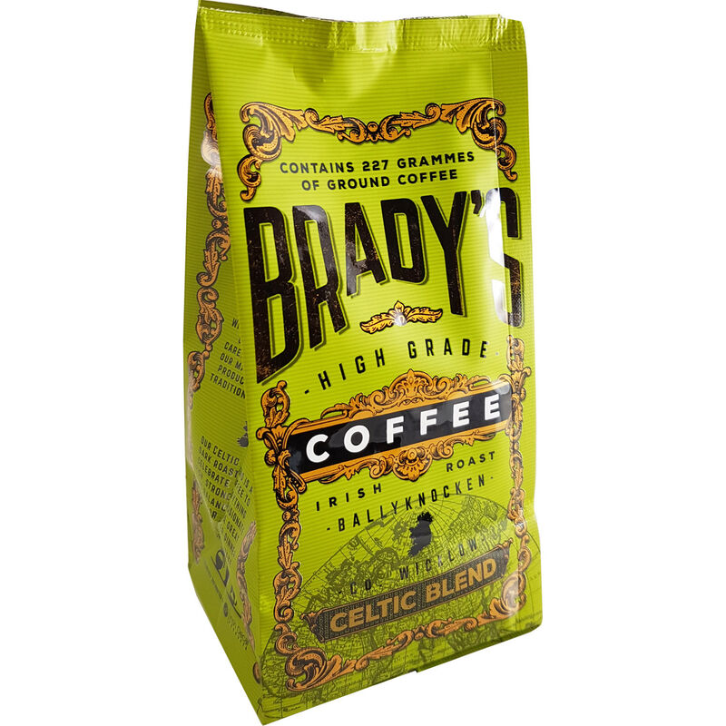 Bradys High Grade Irish Roast Ground Coffee  Celtic Blend 227G