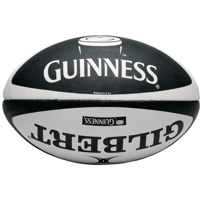 Classic Guinness Design Rugby Match Ball  Made By Gilbert Size 5