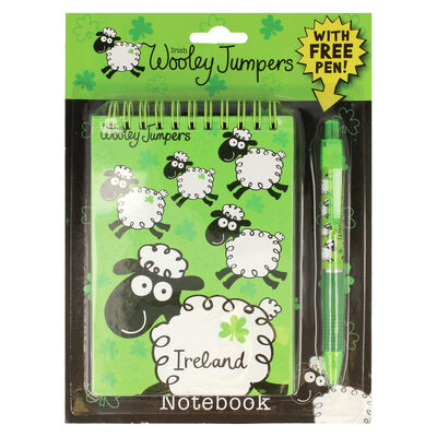 Wooley Jumper Sheep Ireland Designed Notebook, Comes With Free Pen