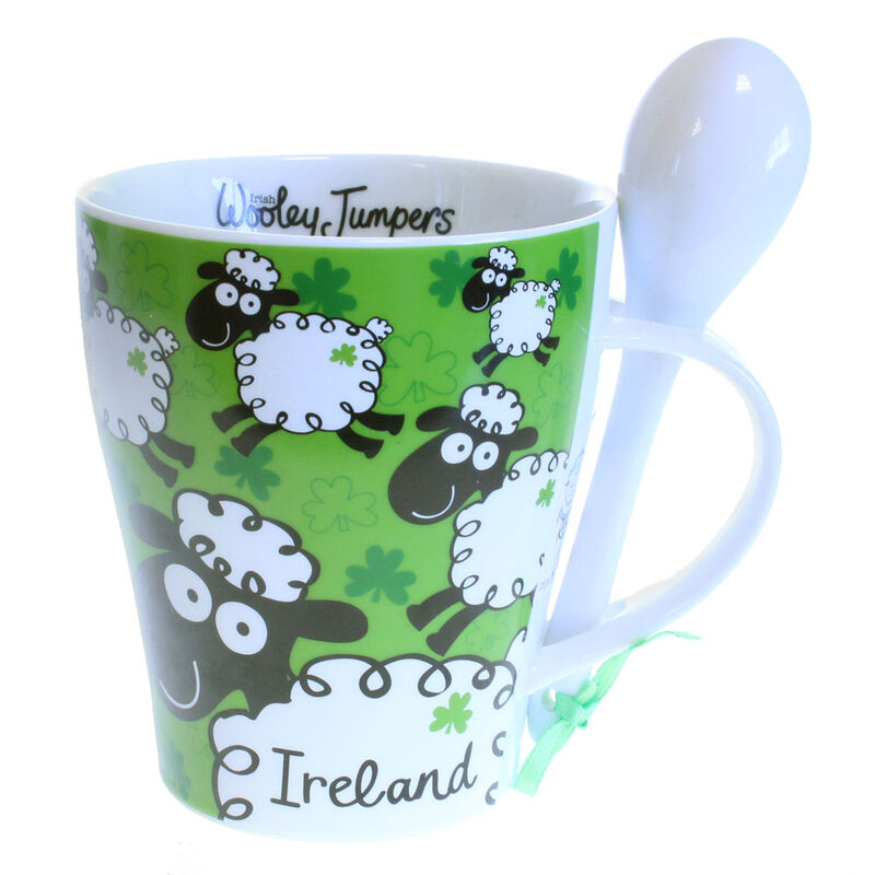 Irish Mug And Spoon Set  Woolley Jumpers