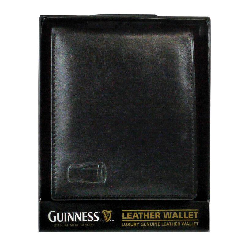 Guinness schwarz klassik Lederbrieftasche für Kreditkarten und Notizen
