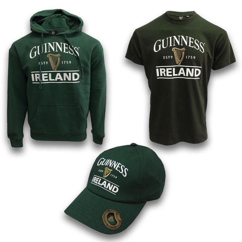 Green Guinness Clothing Set - Hoodie, T-shirt & Baseball Cap
